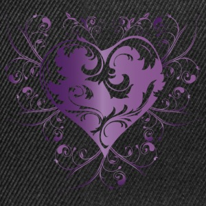 heart purple T-Shirts - Snapback Cap