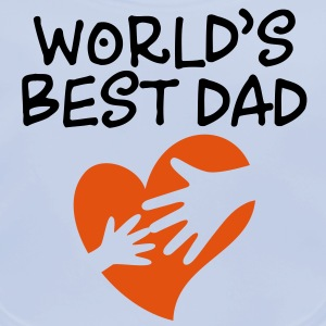 Best Father of the World Shirts - Baby Organic Bib