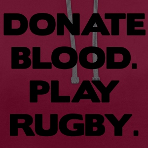 Donate Blood. Play Rugby. Tasker - Kontrast-hættetrøje
