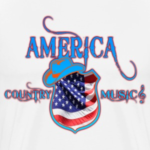america country music Tee shirts manches longues - T-shirt Premium Homme