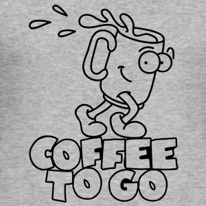 Coffee to go Pullover & Hoodies - Männer Slim Fit T-Shirt