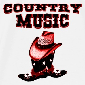 country music Tilbehør - Premium T-skjorte for menn