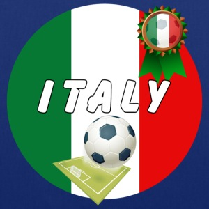 Italy Football Team pitch ball & Rosette - Tote Bag