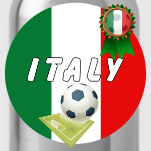 Italy Football Team pitch ball & Rosette - Water Bottle
