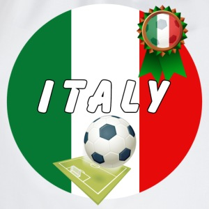 Italy Football Team pitch ball & Rosette  - Drawstring Bag