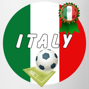 Italy Football Team pitch ball & Rosette  - Mug