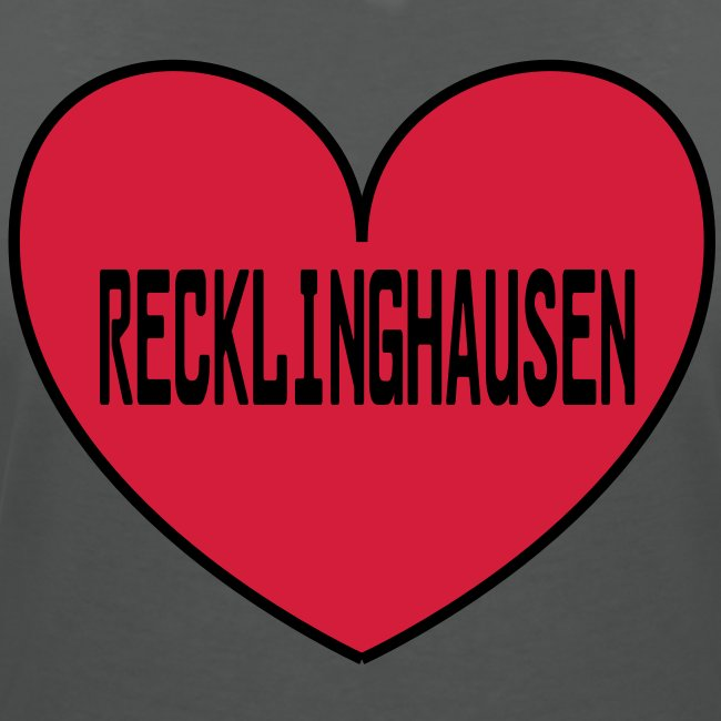 Recklinghausen Herz - Männer Kapuzenpulli