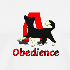Obedience 1 Border Collie 1 Knappar - Premium-T-shirt herr