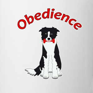 Obedience Border Collie 2 Buttons/Badges - Kop/krus