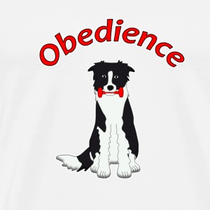 Obedience Border Collie 2 Buttons - Men's Premium T-Shirt