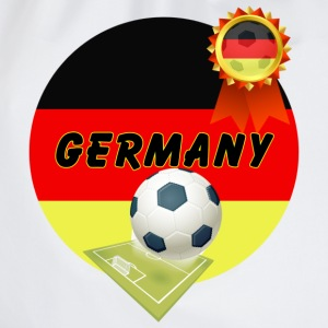 Germany Football Team supporter pitch & Rosette - Drawstring Bag