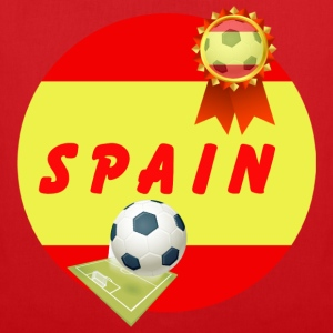 Spain Football Team Supporter Rosette Ball & Pitch - Tote Bag
