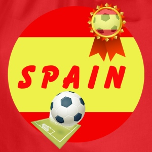 Spain Football Team Supporter Rosette Ball & Pitch - Drawstring Bag