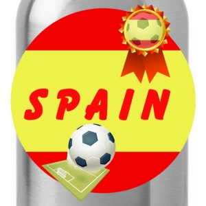 Spain Football Team Supporter Rosette Ball & Pitch - Water Bottle