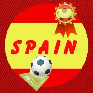 Spain Football Team Supporter Rosette Ball & Pitch - Snapback Cap