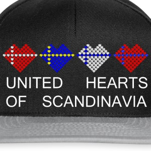 tangram_united_hearts_of_scandinavia_whi Sweaters - Snapback cap