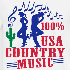 100% usa country music Sweat-shirts - T-shirt Premium Homme