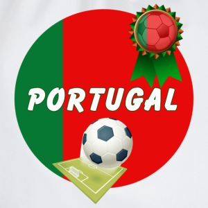 Portugal Football Team Supporter Rosette Ball & Pitch  - Drawstring Bag