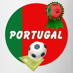 Portugal Football Team Supporter Rosette Ball & Pitch  - Mug