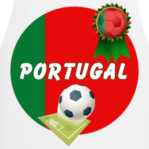 Portugal Football Team Supporter Rosette Ball & Pitch  - Cooking Apron