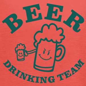 BEER DRINKING TEAM / vector / 1c / T-shirts - Vrouwen tank top van Bella