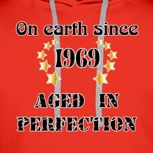 on earth since 1969 T-Shirts - Men's Premium Hoodie