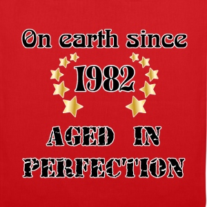 on earth since 1982 Tee shirts - Tote Bag