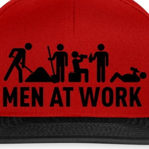 men at work - construction area - worker hard working Kookschorten - Snapback cap