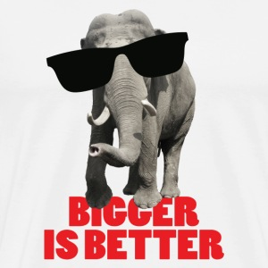 bigger_is_better Hoodies & Sweatshirts - Men's Premium T-Shirt