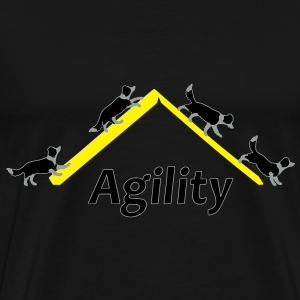 Agility 4x Border Collie Sweat-shirts - T-shirt Premium Homme