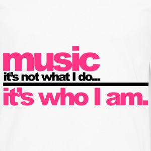 Music - Who I am Kinder shirts - Mannen Premium shirt met lange mouwen