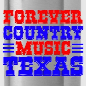 forever country music texas Shirts - Water Bottle