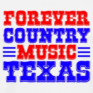 forever country music texas Tasker - Herre premium T-shirt
