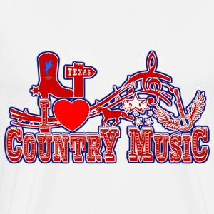 i love country music Sweat-shirts - T-shirt Premium Homme