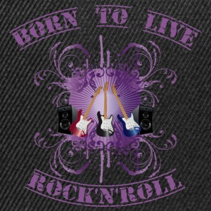 born to live Rock'n'Roll-purple Tee shirts - Casquette snapback