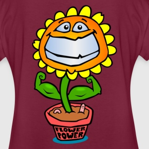 Flower Power - Frauen Oversize T-Shirt