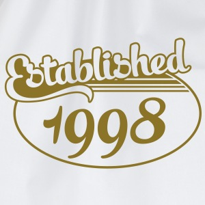 Birthday-Shirt - Geburtstag - Established 1998 (de) T-Shirts - Turnbeutel