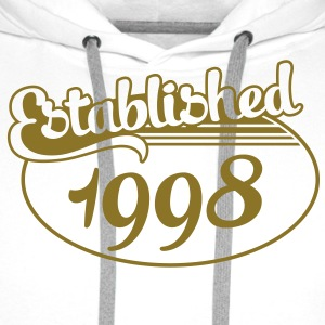 Birthday-Shirt - Geburtstag - Established 1998 (de) T-Shirts - Männer Premium Hoodie