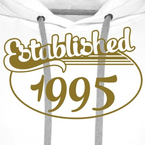 Birthday-Shirt - Geburtstag - Established 1995 (it) T-shirt - Felpa con cappuccio premium da uomo