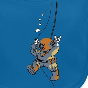 diver old fashioned Kids' Shirts - Baby Organic Bib