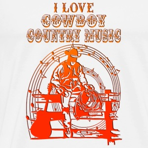 i love cowboy country music Sweat-shirts - T-shirt Premium Homme