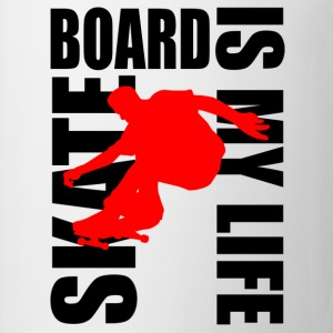 skateboard is my life Magliette - Tazza
