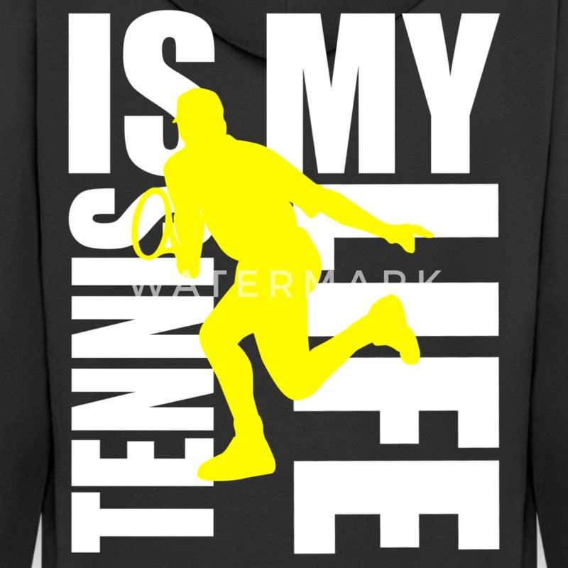 tennis is my life Felpe - Felpa con zip Premium da uomo