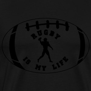 rugby is my life Sweaters - Mannen Premium T-shirt