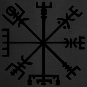Vegvísir (Viking Compass) / Glow in the Dark Underwear - Cooking Apron