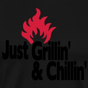 just grillin' and chillin' / just grilling and chilling 2c  Aprons - Men's Premium T-Shirt