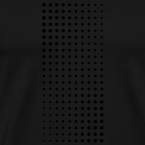 Halftone white on black bag - Men's Premium T-Shirt