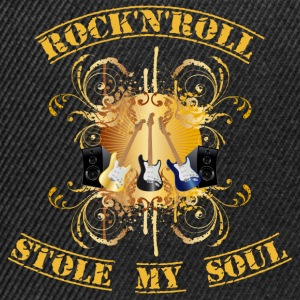 rock'n'roll stole my soul - yellow T-shirts - Snapbackkeps