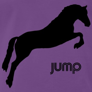 Jumping Horse - you can change the colour Gensere - Premium T-skjorte for menn