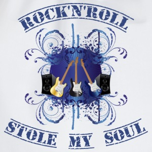 rock'n'roll stole my soul - blue T-shirts - Gymnastikpåse